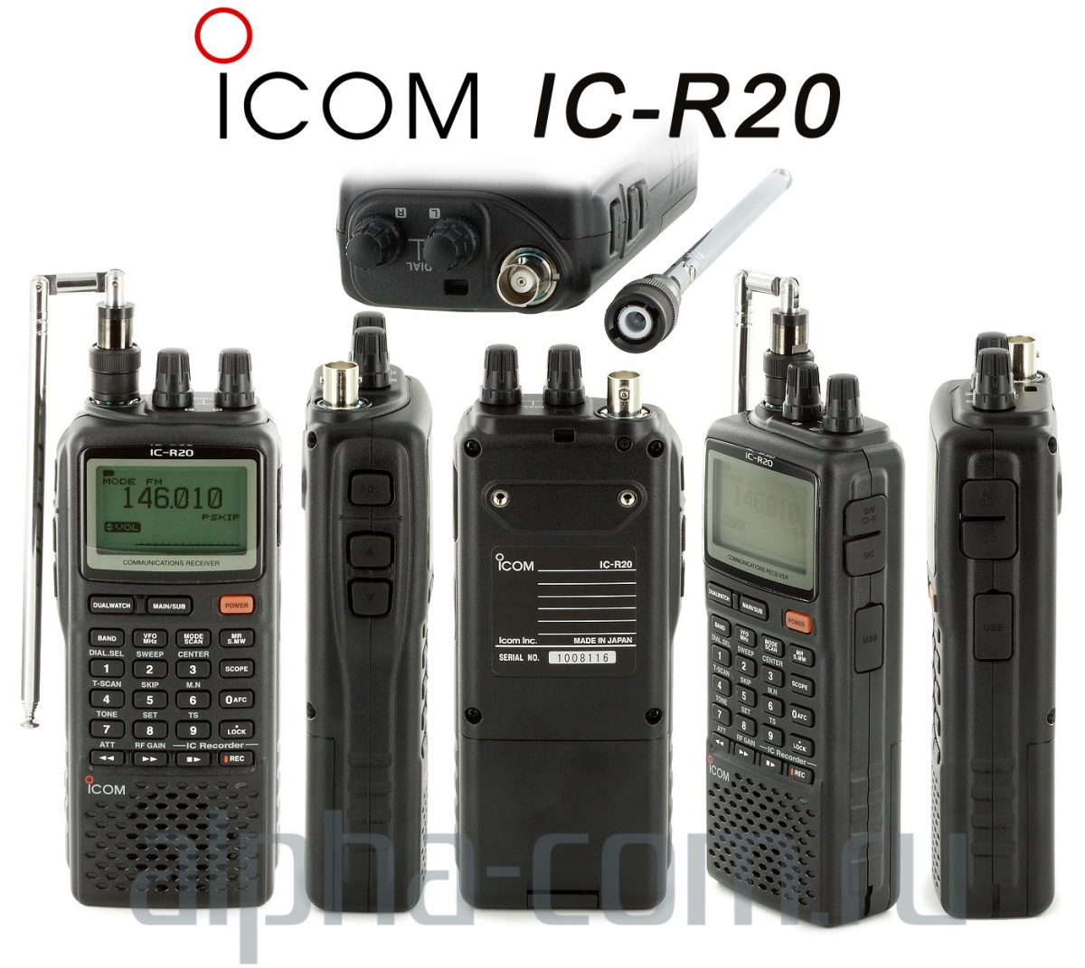 Icom IC-R20 back